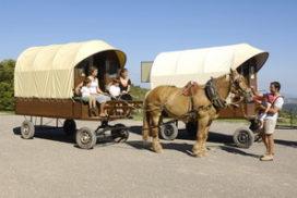en familia en caravana