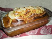 pastel de yogur y manzana