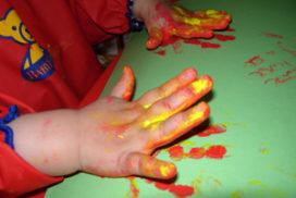 jugamos con pintura