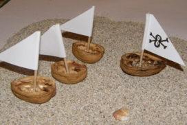 barcos de cáscaras