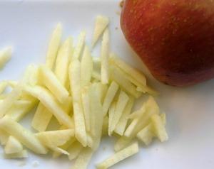 amanida de llagostins amb poma