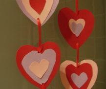 corazones de cartulina