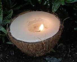velas de jardín