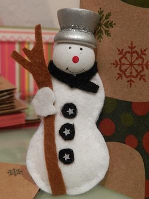 Ornaments de Nadal amb fang i feltre
