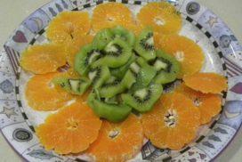 mandarina con kiwi