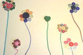 manualidades infantiles con botones