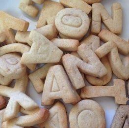 galetes amb formes de lletres