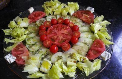 ensalada de pepino y tomate