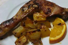 pollo ecológico con naranja y miel