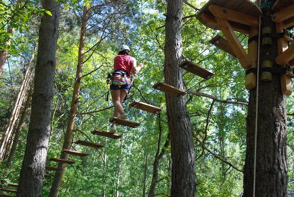 Aventura sobre los árboles en el Pallars Sobirà