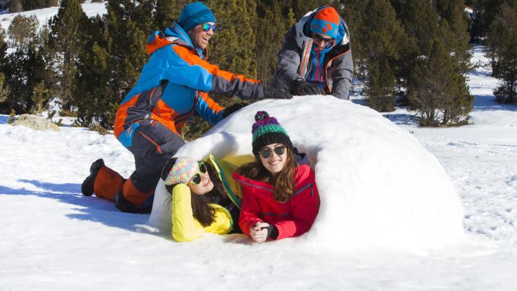 construye un iglú con los niños