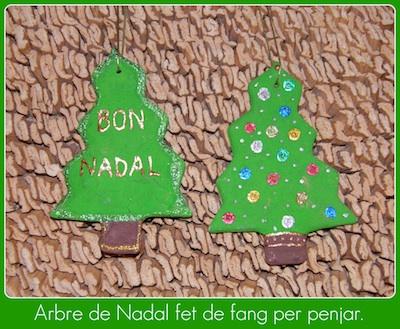 arbres de nadal fets amb fang