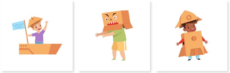 Manualidades para hacer con niños con cajas de cartón