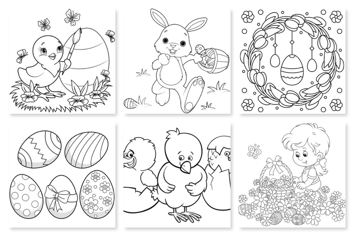 Dibujos De Pascua Para Pintar Con Los Niños Sortir Amb Nens