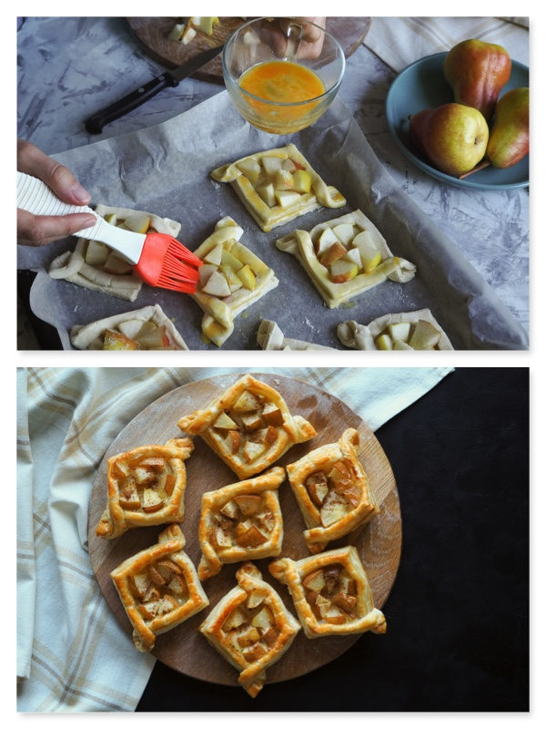 hojaldre con pera