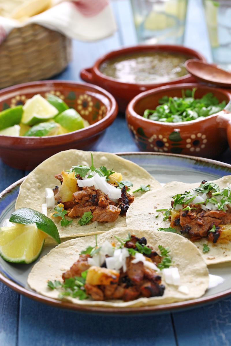 Tacos Al Pastor Cocina Mexicana Sortir Amb Nens
