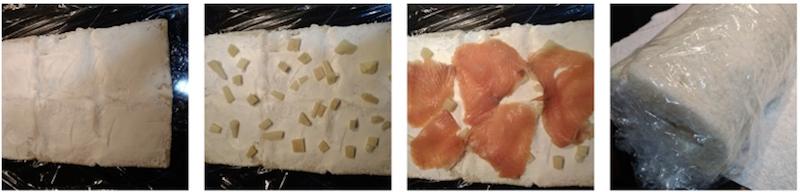 rollitos de salmón y queso