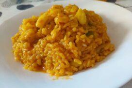 arroz con gambas y sepia
