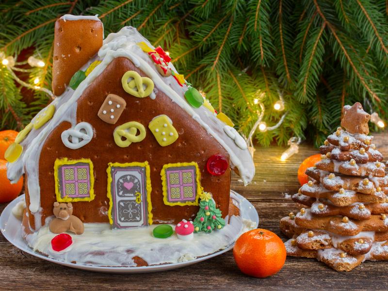 caseta de nadal amb galetes i llaminadures
