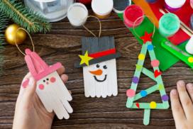 manualidades de Navidad con palos de helado