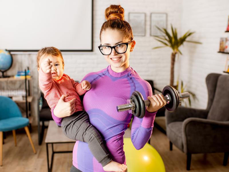 ejercicio en casa en familia