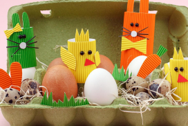 manualidades infantiles con cajas de huevos
