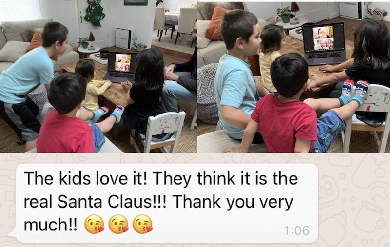 Videollamadas con los Reyes Magos y Papá Noel
