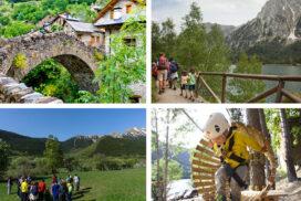 con niños en el Pallars Sobirà
